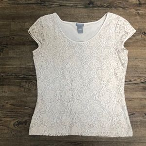 Ann Taylor small lace T-shirt